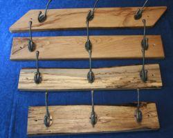 reclaimed timber coat racks