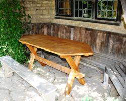 Outdoor oak table