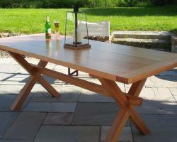 Patio table in douglas fir