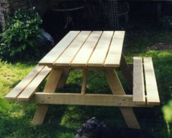 Garden table and seating