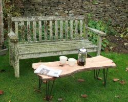 Live-edge cherry table