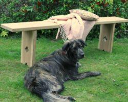 Oak utility bench