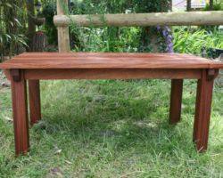 Small occasional table solid timber
